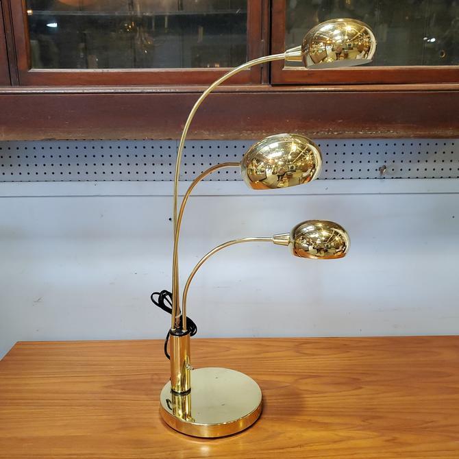Anthony California Inc. Three-Arm Brass Table Lamp