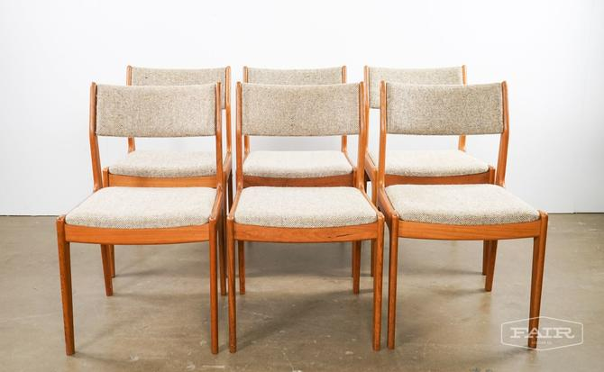 Set of Six Teak Dining Chairs for Scan