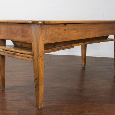 18th Century Country French Farmhouse Walnut Dough Table or Petrin Kitchen Table by StandOutSpaces