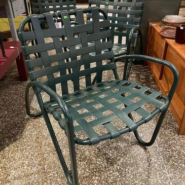 """Iconic outdoor chairs by Brown Jordan. 3 available 25"""" x 36"""" x 32.5"""" seat height 17"""""""