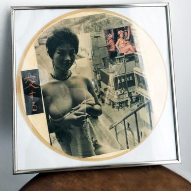 50's - RARE Vintage Asian Picture Disc Pinup Girl Nudes Record Album Vinyl 1950's * 1 Of A Kind * , Tom Jones, Music, Picture Frame, Japan by Boutique369