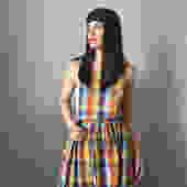vintage 70s madras apron dress by LosGitanosVintage