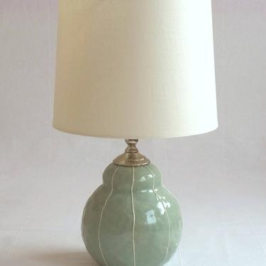 Ceramic lamp. Pottery bedside table lamp by krikriceramics