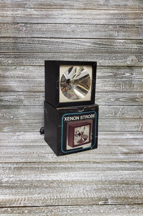 Vintage Strobe Light in BOX, Adjustable Speed Xenon Strobe Light, Retro Disco Party Light, Rock Band Stage Lighting, Vintage Lighting by AGoGoVintage