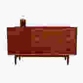 Arne Vodder Danish Teak Rare Compact Sideboard