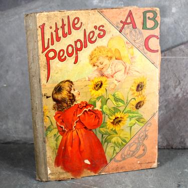 Little People's ABCs, circa 1900s by Graham & Matlack Publishers of New York - Antique Chidlren's ABC Picture Book| FREE SHIPPING by Bixley