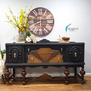 Jacobean style Sideboard/buffet by BrushedbymaddieArt