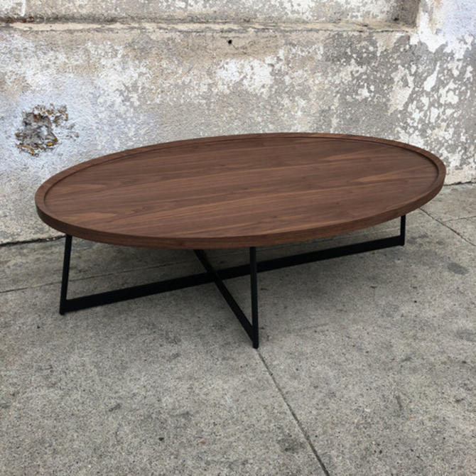 Modern Oval Mid Century Style Coffee Table