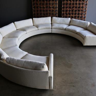 Milo Baughman Circular Sectional Sofa for Thayer Coggin circa 1975
