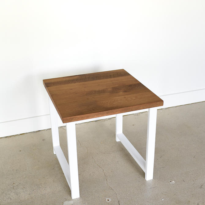 Reclaimed Wood Side Table / Nordic End Table / Modern Accent Table by wwmake