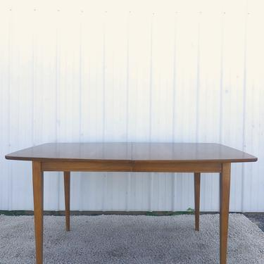 Mid Century Dining Table with Leaf