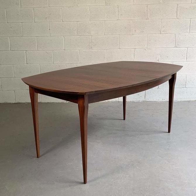 Bertha Schaefer For M. Singer & Sons Walnut Extension Dining Table
