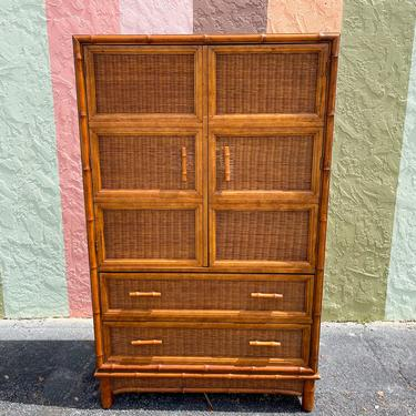 Island Chic Bamboo and Rattan Tall Chest