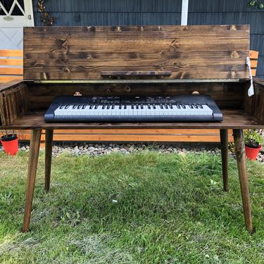 Mid Century Modern Keyboard Stand Piano Stand by OrWaDesigns