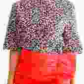 Marni Printed Back Zip Blouse, Size 44