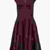 Ted Baker - Maroon A-Line Dress w/ Floral Texture Sz 0