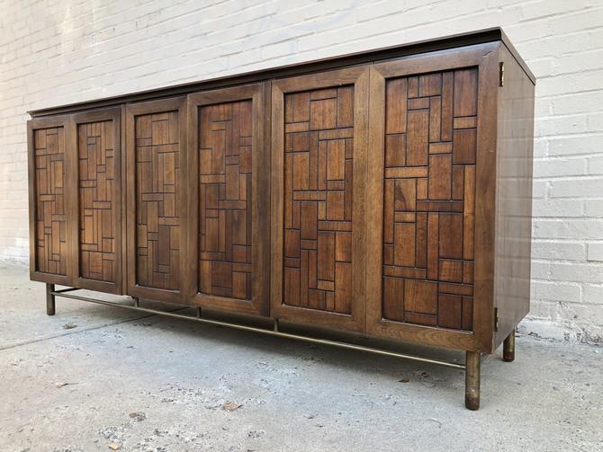 Brutalist style lowboy dresser