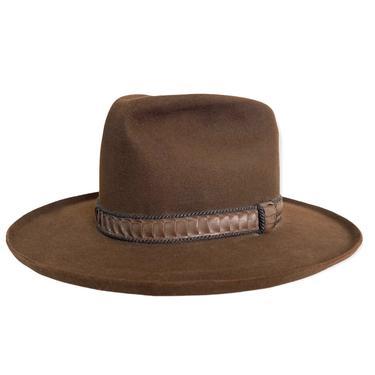Vintage STETSON Western Hat ~ size 7 3/8 ~ Cowboy ~ Pencil Curl ~ 3X Fur Felt Fedora ~ Wide Brim ~ by SparrowsAndWolves