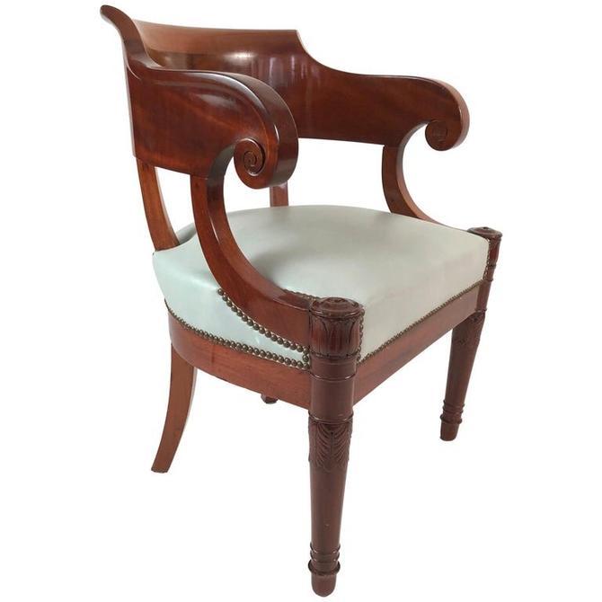 19th Century French Empire Period Mahogany Armchair