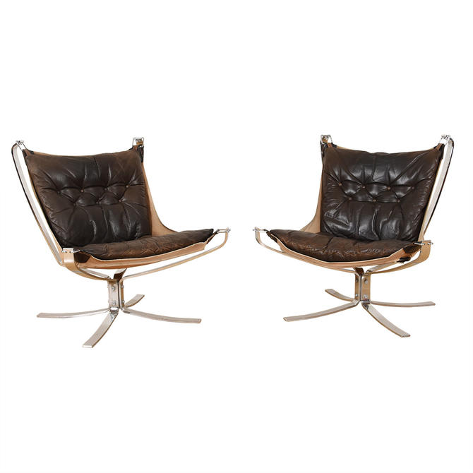 Rare Pair of Falcon Chairs