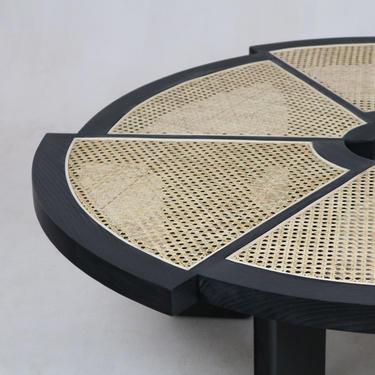 Rio Coffee Table Smoked Black Oak & Rattan by ShopInteriorTonic