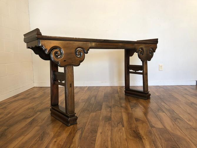Antique Chinese Elm Wood Altar Table by Vintagefurnitureetc