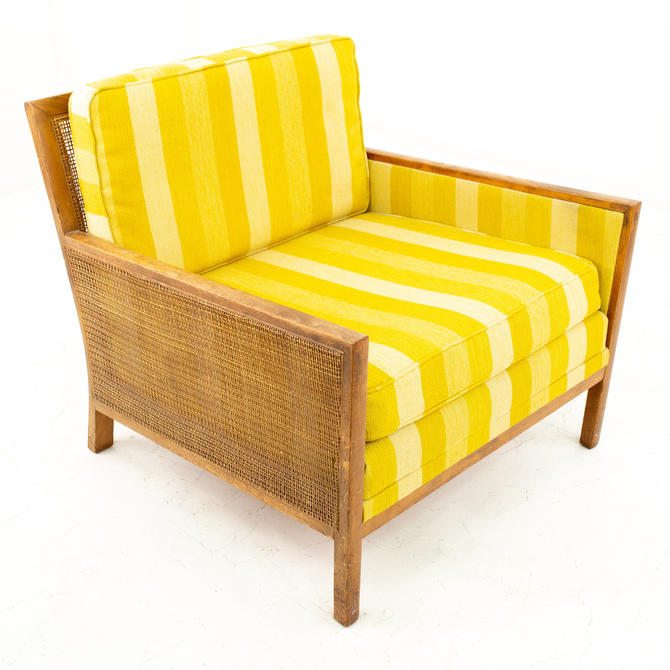 Paul McCobb Style Mid Century Caned Lounge Chair - mcm by ModernHill