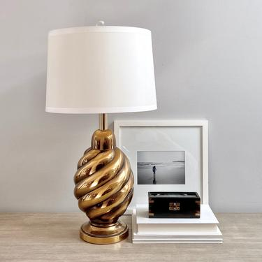 Vintage Westwood Industries Brass Beehive Table Lamp by ModRendition