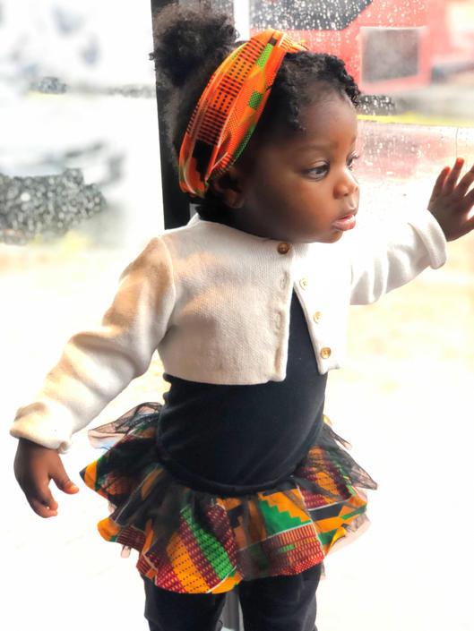 Zizi Kente baby headband, Kente fabric, African print by PriscArts