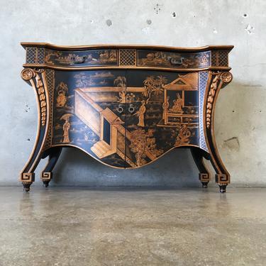 Black & Gold Asian Cabinet