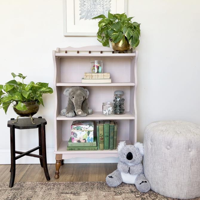 Pink Shabby Chic Bookcase - Distressed Furniture