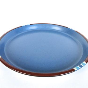 "Single Vintage Dansk Mesa Blue Dinner Plates, Modern Southwestern Stoneware 10 1/2"" Plates, Dansk Denim Blue Dinner Plates From Japan by HerVintageCrush"