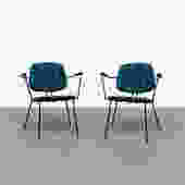 Pair of Rudolf Wolf for Elsrijk Chairs