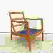 Mid Century Walnut Lounge Chair by John Stuart