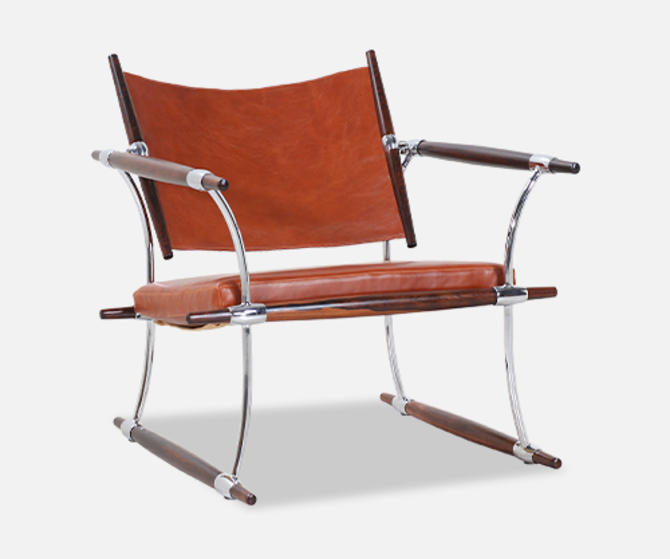 """Jens H. Quistgaard """"Stokke"""" Rosewood Lounge Chair for Nissen"""