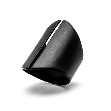 Locked and Layered - Sliced Adjustable Ring