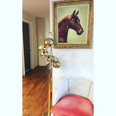 "Robert Sonneman style - Mid-Century Solid Brass Waterfall ""Bubble"" Floor Lamp with 5 Decorative Pendants by PortlandRevibe"