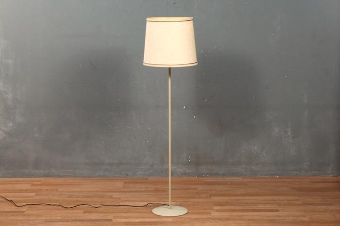 Simple Slender Ecru Floor Lamp