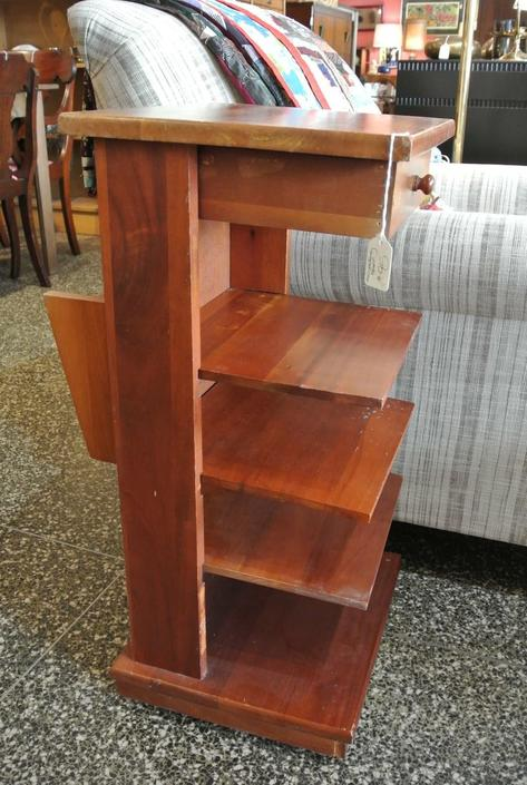 Shelf Unit / Side Table with drawer. $95