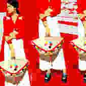 Man Repeller Red by Monica Ahanonu by MonicaAhanonuDesign