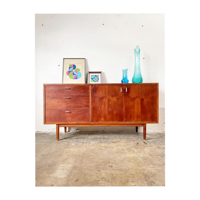 Mid Century Danish Modern Jack Cartwright for Founders Console or Credenza by FlipAtik
