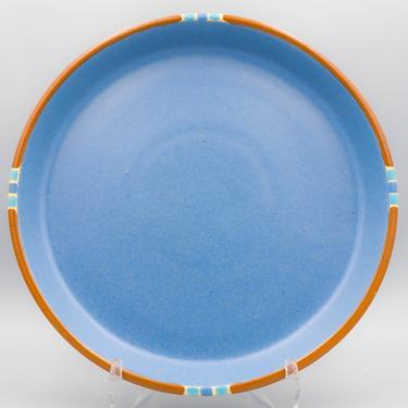 Dansk Mesa Sky Blue Dinner Plate | Vintage Southwest Inspired Dinnerware Stoneware by MostlyMidCenturySF