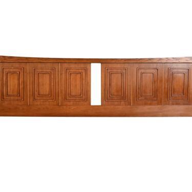Broyhill Sculptra Headboard Walnut King Bed Mid Century Modern by HearthsideHome