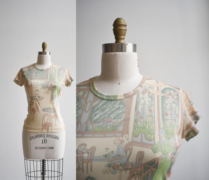 1970s All Over Print Blouse by milkandice