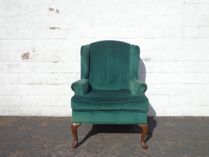 Wingback Chair Traditional Wing back Lounge Formal Reading Armchair Seating Vintage Chippendale Mid Century Modern English Set High Back by DejaVuDecors