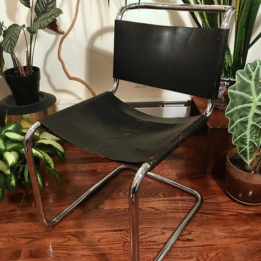 Vintage Knoll Spoleto chair in black leather