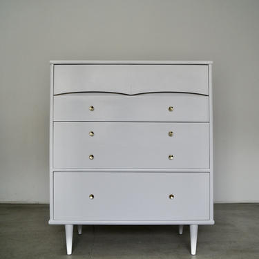 1950's Mid-century Modern Highboy Dresser by Kent Coffey - Professionally Refinished! by CyclicFurniture