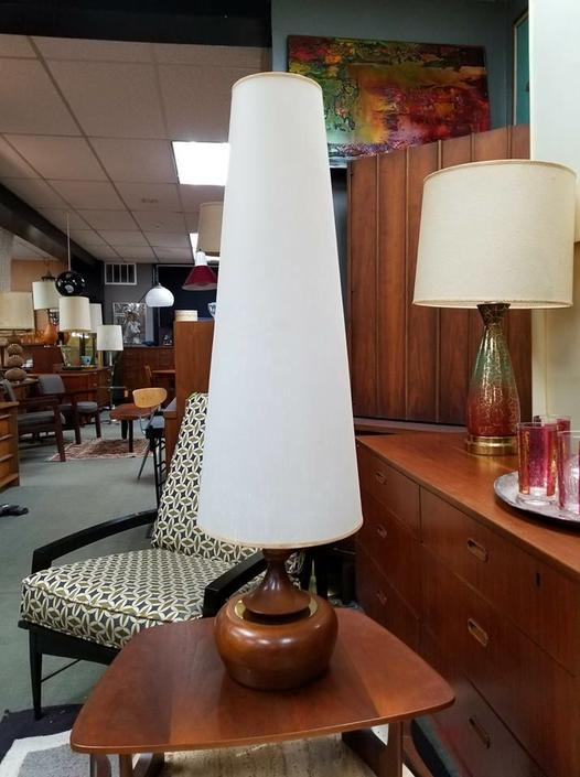 Mid-Century Modern lamp with elongated shade
