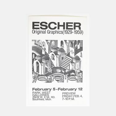 M.C. Escher - Original Graphics Exhibition Poster /// Park West Gallery by GoldmineUnlimited