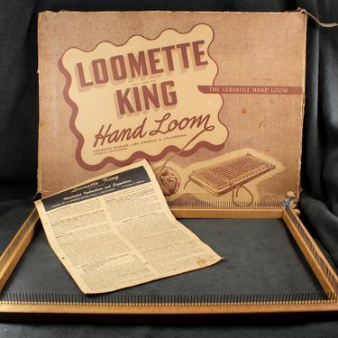 """RARE (and GIANT!) Loomette King Lap or Table Top Hand Loom - 18""""x12"""" Wooden Hand Loom  